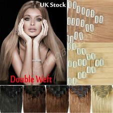 120g-200g Thick Double Weft Clip In Real Remy Human Hair Extension Full Head M48