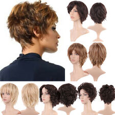 Ladies Full Wigs Vogue Hairstyle Long Short Curly Wave Straight Daily Wig UK A7