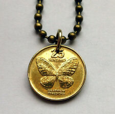 Philippines 25 sentimo coin pendant Filipino Swallowtail Butterfly cute n000970