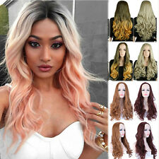 Ladies Women Cosplay Half Wig Long Wave Hair Multi Colour Synthetic Wigs Fashion
