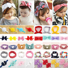 Baby Girls Kid Large Ruffle Flower Lace Hairband Soft Elastic Headband Hair Band
