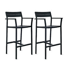 Eos Barstool Black - SET OF 2 - DWR Exclusive Design Within Reach Outdoor