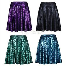 Womens Plain Bodycon Waisted Ladies Stretchy Mermaid Fish Scales Print Skirt