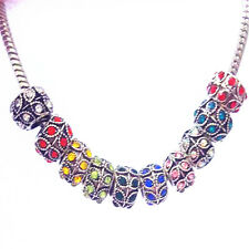 Mixed 10PCS Fashion European Silver Charm Beads Fit sterling Necklace Bracelet F