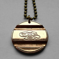 Italy Telephone booth token coin pendant Gettone Telefonico Italian dial n001103