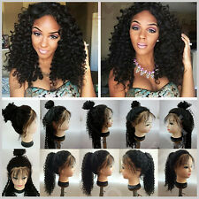 US Stock Top Human Hair Lace Front Wigs Full Lace Wig For Black Womens Long AAA