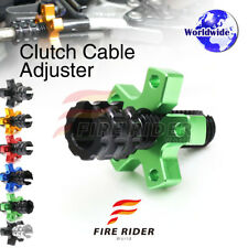 FRW 6Color CNC Clutch Cable Adjuster For Kawasaki ZZR600 (ZX600) 04-08 05 06 07