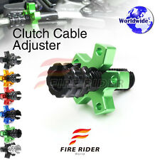 FRW 6Color CNC Clutch Cable Adjuster For Kawasaki 454 LTD 85-90 85 86 87 88 89