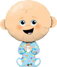 """Qualatex 38"""" Supershape Foil Baby Boy Balloon Baby Shower Party Decoration"""