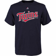 Minnesota Twins Majestic Youth Official Wordmark  T-Shirt - Navy