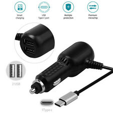 Quick Charger Dual USB Ports + Type C Charger Cable Cord Car Charger For HTC U11