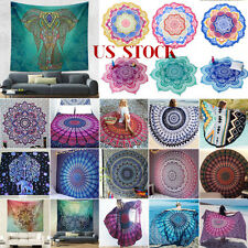Bohemian Mandala Round Beach Tapestry Hippie Throw Yoga Mat Towel Indian Blanket