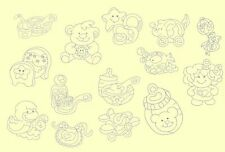 Baby Things Redwork Machine Embroidery CD- 42 Designs- By Anemone Embroidery