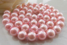 "Long 18"" 24"" 36"" 48"" 8mm 10mm 12mm Pink Shell Pearl Round Beads Necklace AAA"