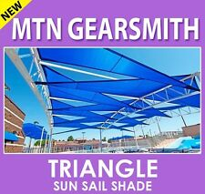 NEW OUTDOOR SUN SAIL SHADE CANOPY COVER - TRIANGLE BLUE