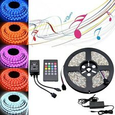 Waterproof 300 LED 3528 5050 RGB SMD Strip Light + Remote Controller + Adapter
