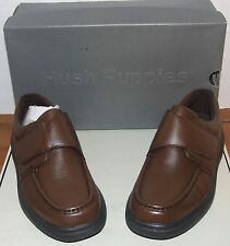 Mens Hush Puppies Gil Black or Brown Leather Shoe