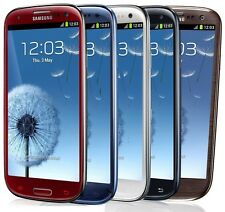 """Unlocked Samsung Galaxy S3 SGH-I747 (AT&T) GSM 4.8"""" Smartphone Blue/White"""