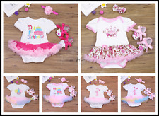Infant Baby Girls My 1st Birthday Princess Romper Outfits Party Tutu Kids Dress