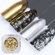 BORN PRETTY Irregular Nail Art Flakes Gold Silver Glitter Sequins Paillette Dust