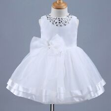 Infant Baby Girls Organza Flower Bowknot Princess Pageant Birthday Party Dress