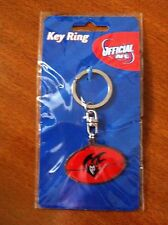 AFL FOOTBALL SHAPED KEY RING KANGAROOS MELBOURNE AND BULLDOGS BRAND NEW