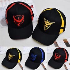 Pokemon Team Valor Mystic Instinct Embroider Cap Baseball Trainer Snapback Hat