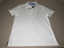 Tommy Hilfiger Polo Shirt WHITE NWT  Mens Size Medium
