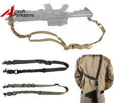 Tactical Quick Release One Two Point Bungee Rifle Shotgun Sling Strap Military