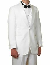 Complete White Shawl Collar Tuxedo Suit 42R 42 R Tux Shirt Mens New