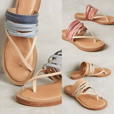 Women Roman Goth Gladiator Thong Sandals Flat Rome Sandals Summer Shoes FreeShip