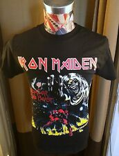 BRAND NEW IRON MAIDEN 666 THE NUMBER OF THE BEAST EDDIE DEVIL ROCK BLACK T SHIRT