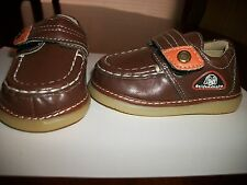 Baby Toddler Boys Brown Loafers Squeaky shoes Sneakers with removable squeaker