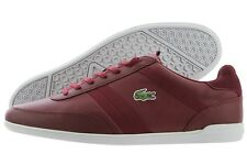 Lacoste Giron 416 1 SPM 7-32SPM0062112 Dark Red Leather Casual Shoes Medium Men