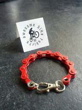 Red Bike Chain Bracelet Great Cyclist Bicycle Road MTB DH XT Gift