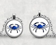Cancer Zodiac Pendant Necklace Astrological Sign Water Sign
