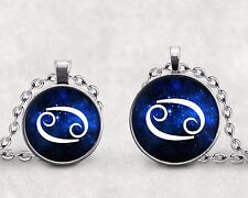 Cancer Zodiac Necklace Pendant Astrological Sign Water Sign