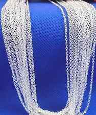 "wholesale lots 10p  Silver 1.2mm ""O"" Chain Necklace 16-30 inch"