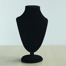 1x Black Jewelry Necklace Choker Display Stand Bust Neck Velvet Showca HH