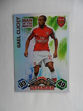 Match attax 2009 2010 (Orange backs) Man of the match cards teams A-L.
