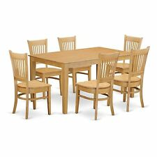 CAVA7-OAK 7-Piece Dining room set - Kitchen dinette table and 6 dining room chai