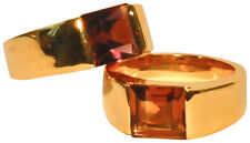 JOSEPH ESPOSITO-14KT GOLD PLATE RING WITH SQUARE CENTER CENTER