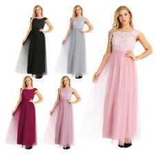 Women Formal Long Dress Cap Sleeve Bridesmaid Dress Evening Prom Gown Cocktail