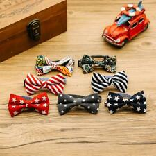 Lovely Pet Dogs Cats Handmade Adjustable Bow Knot Tie with Ring Bell Pet Costume