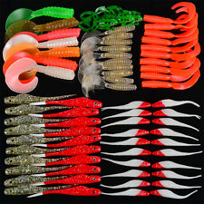 70&80/lot Fishing Lure Mixed Weight Soft Lure Fishing Bait Mixed Color Bass