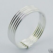 USA Seller Five Band Rings 925 Sterling Silver Best Price Jewelry Selectable