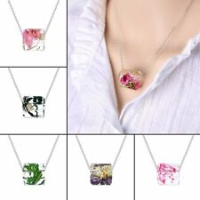 Fashion Real Dried Flower Charm Pendant Necklace Women Lady Jewelry Party New