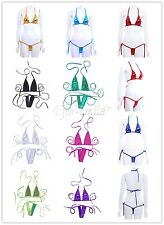 Women Push-up Bra Bikini Set Swimsuit Triangle Swimwear Bathing Top Bottom Suit