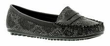 New Ladies/Womens Black Snake Effect Flat Slip Ons Casual UK SIZES