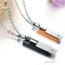 316L Stainless Steel Men Women Couple Pendant Necklace Jewelry Valentine's Gifts